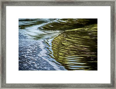 Waves Of Reflections Framed Print