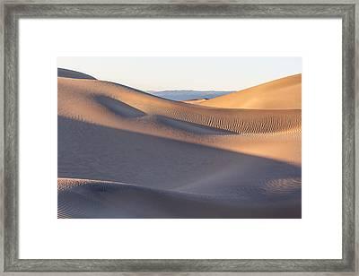 Waves Of Sand Framed Print by Jon Glaser