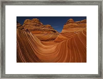 Waves Of Sandstone Framed Print by Kenan Sipilovic