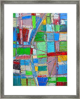 Waves Of Spirit - Abstract Original Oil Painting Framed Print by Ana Maria Edulescu