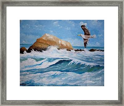Waves Of The Sea Framed Print