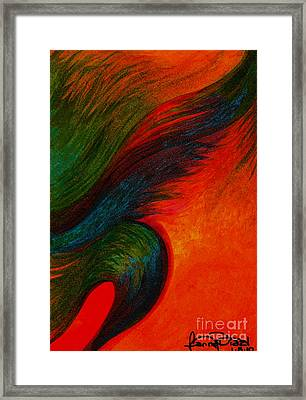 Waves Of The Wind Framed Print by Fanny Diaz