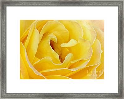 Waves Of Yellow Framed Print by Sabrina L Ryan