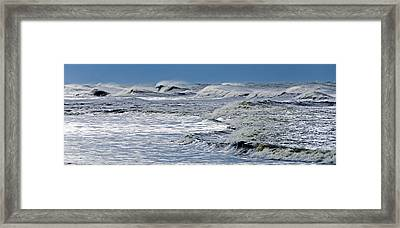 Waves Off Sandfiddler Rd Corolla Nc Framed Print by Greg Reed