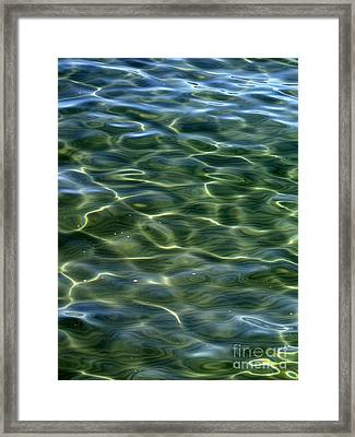 Waves On Lake Tahoe Framed Print