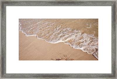 Waves On The Beach Framed Print by Adam Romanowicz