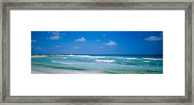 Waves On The Beach, Cancun, Quintana Framed Print by Panoramic Images