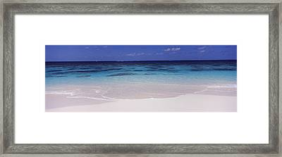 Waves On The Beach, Shoal Bay Beach Framed Print by Panoramic Images