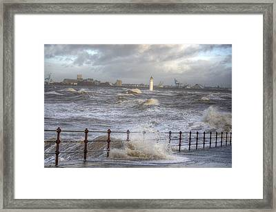 Waves On The Slipway Framed Print