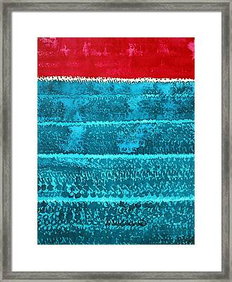 Waves Original Painting Framed Print by Sol Luckman