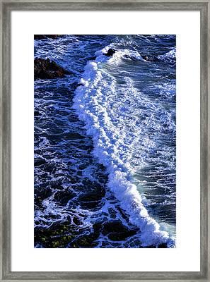Waves Pacific Ocean Framed Print by Garry Gay