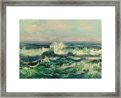 Waves Painting Framed Print