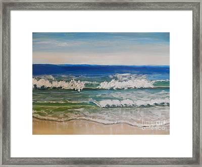 Waves Framed Print by Pamela  Meredith
