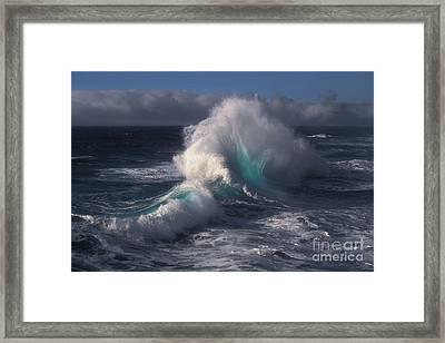 Waves Framed Print by Ron Sanford