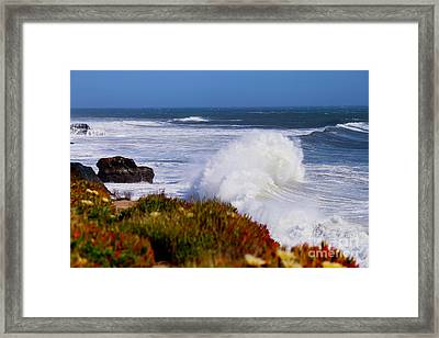 Framed Print featuring the photograph Waves by Theresa Ramos-DuVon