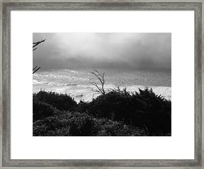 Framed Print featuring the photograph Waves Upon The Land by Tarey Potter