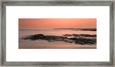 Waves Washing Over Rocks On Beach Framed Print by Panoramic Images