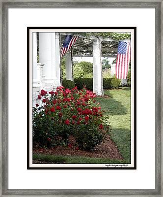 Waving American Flag Framed Print