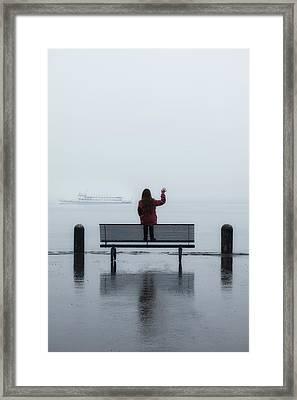 Waving Goodbye Framed Print by Joana Kruse