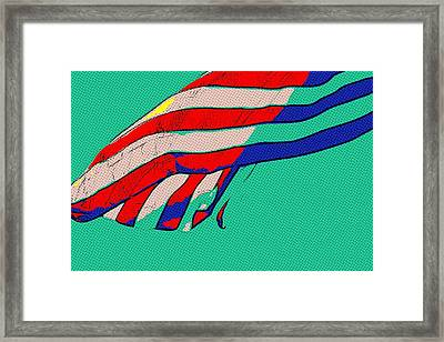 Waving Stripes Framed Print