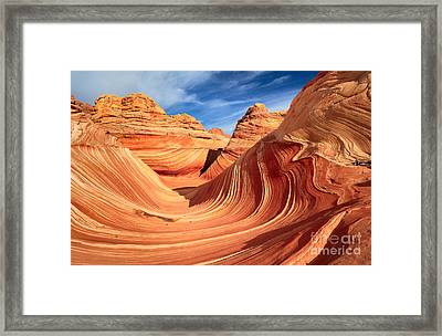 Wavy Bowl Framed Print by Inge Johnsson