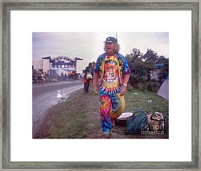 Wavy Gravy At Woodstock Framed Print by Chuck Spang