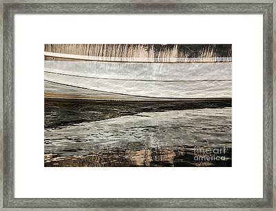 Wavy Reflections Framed Print