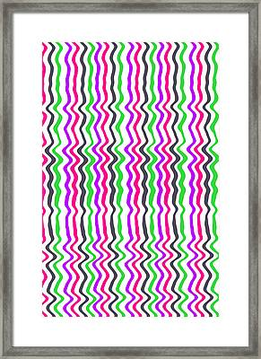 Wavy Stripe Framed Print by Louisa Hereford