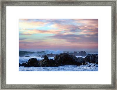 Wavy Sunset Framed Print