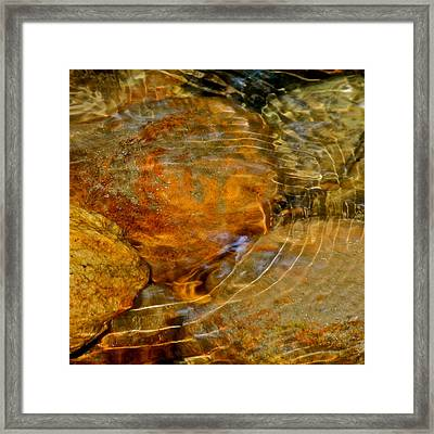 Wavy Water On Colorful Rocks Framed Print