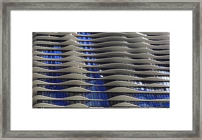 Wavy Windows Framed Print by Donna Spadola