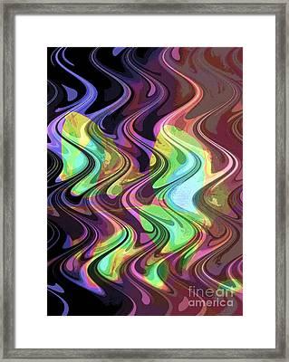 Wavy Framed Print by Yael VanGruber