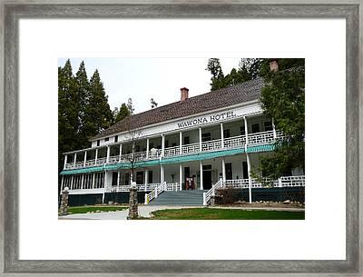 Wawona Hotel In Yosemite  Framed Print