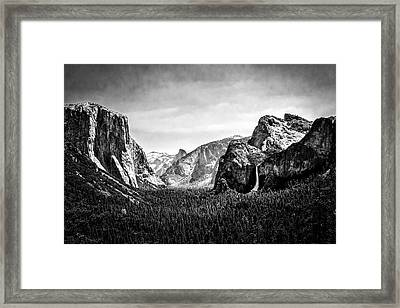 Wawona Tunnel View Framed Print by Jeff Burton