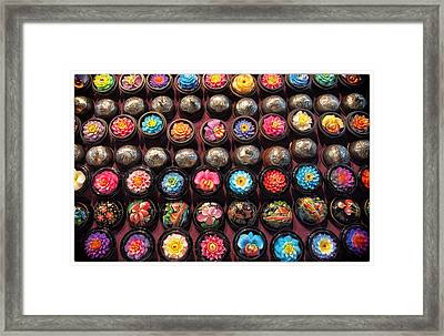 Wax Candles In Chiang Mai Framed Print by River Engel