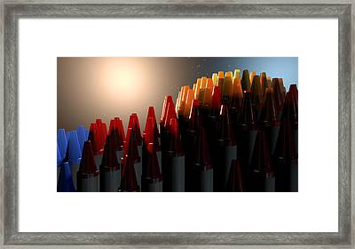Wax Crayons Imagination Framed Print by Allan Swart