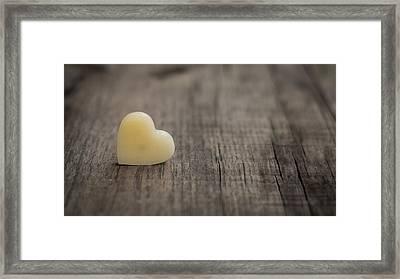 Wax Heart Framed Print