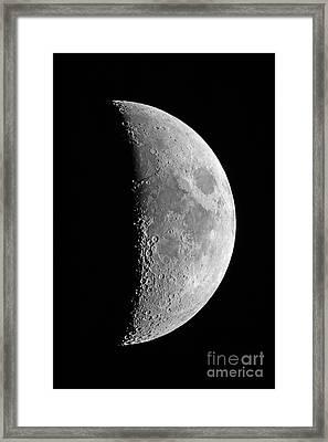 Waxing Crescent Moon, 2013 Framed Print