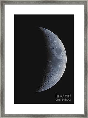 Waxing Crescent Moon Framed Print by John Chumack