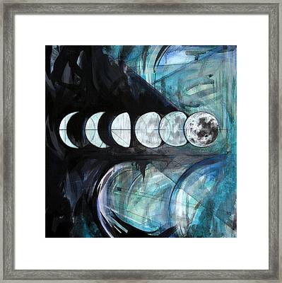 Waxing Framed Print by Stacey Sherman