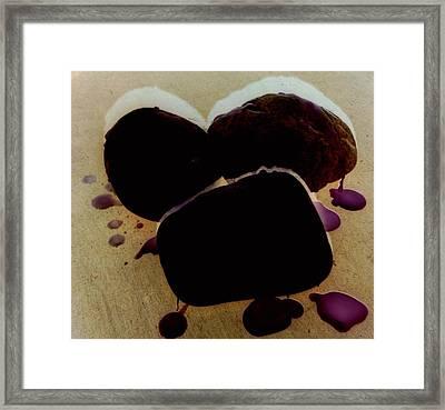 Waxy Stones Framed Print