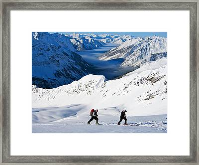 Way Above The Valley Clouds Framed Print
