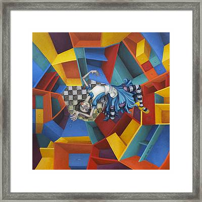 Way Down In The Hole Framed Print by Kelly Jade King
