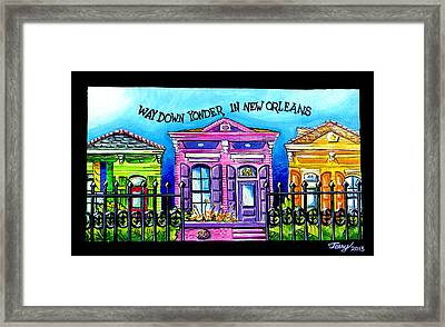 Way Down Yonder In New Orleans Framed Print by Terry J Marks Sr