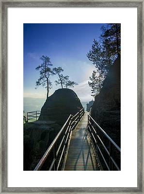 Way Into The Light On Neurathen Castle Framed Print
