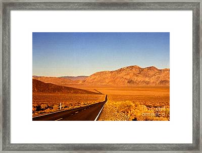 Way Open Road Framed Print