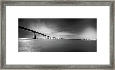 Way Over The Bay Framed Print by Ryan Weddle