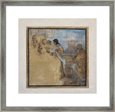Way To Calvary Framed Print by Michal Boubin