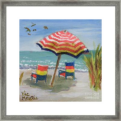 Framed Print featuring the painting Way To Go by Vic  Mastis