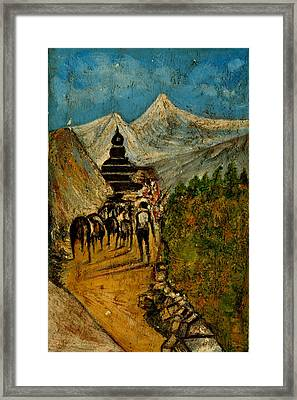 Way To God At Himalayas Framed Print by Anand Swaroop Manchiraju